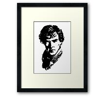 Sherlock Retro Style Framed Print