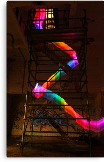 Staircase Rainbow by myebra