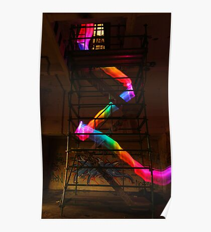 Staircase Rainbow Poster