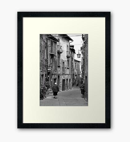 Italian Stroll Framed Print