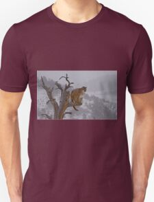 Cougar overlooking domain Unisex T-Shirt