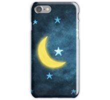 moon and stars iPhone Case/Skin