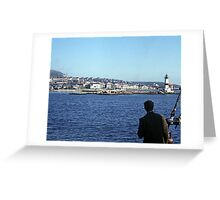 Entering Harbour at St. Pierre and Miquelon Greeting Card