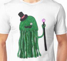 Mr Stinger the Gentleman Jellyfish in green Unisex T-Shirt