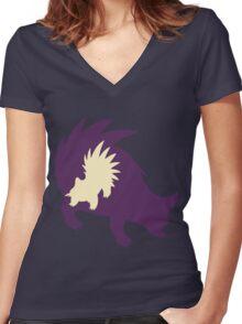 PKMN Silhouette - Stunky Family Women's Fitted V-Neck T-Shirt