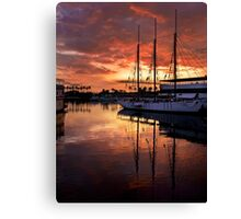 Rainbow Harbor Sunset Canvas Print