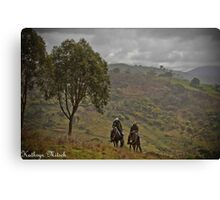 Riding in the hills Canvas Print