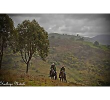 Riding in the hills Photographic Print