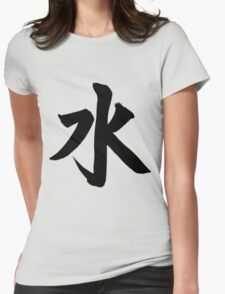 Japanese Water Element Symbol Womens Fitted T-Shirt