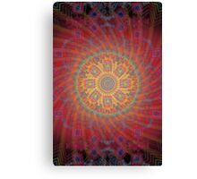 Psychedelic Spiral Design Canvas Print