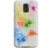 world map painting Samsung Galaxy Case/Skin