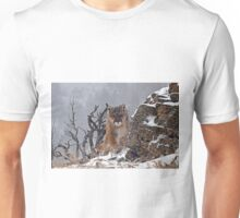 Cougar coming around rock Unisex T-Shirt