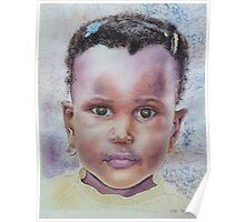 Toddler Girl Portrait Poster