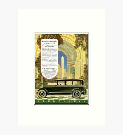 Classic car Studebaker Big Six advertising  Art Print