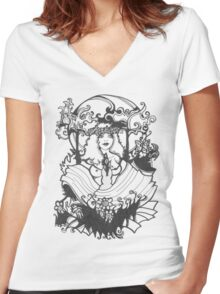 Easter Women's Fitted V-Neck T-Shirt