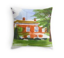 Courthouse on a Summer's Evening Throw Pillow