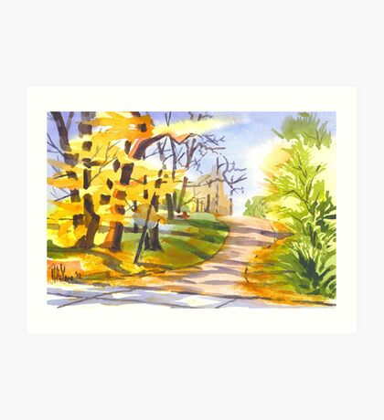 Autumn Lane Art Print