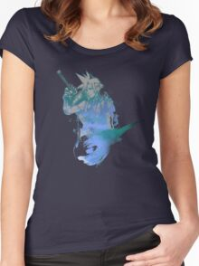 Cloud Strife Meteor (Black) Women's Fitted Scoop T-Shirt