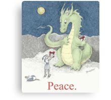 Peace Dragon Canvas Print