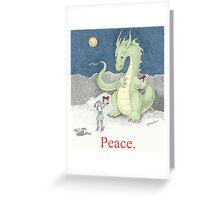 Peace Dragon Greeting Card