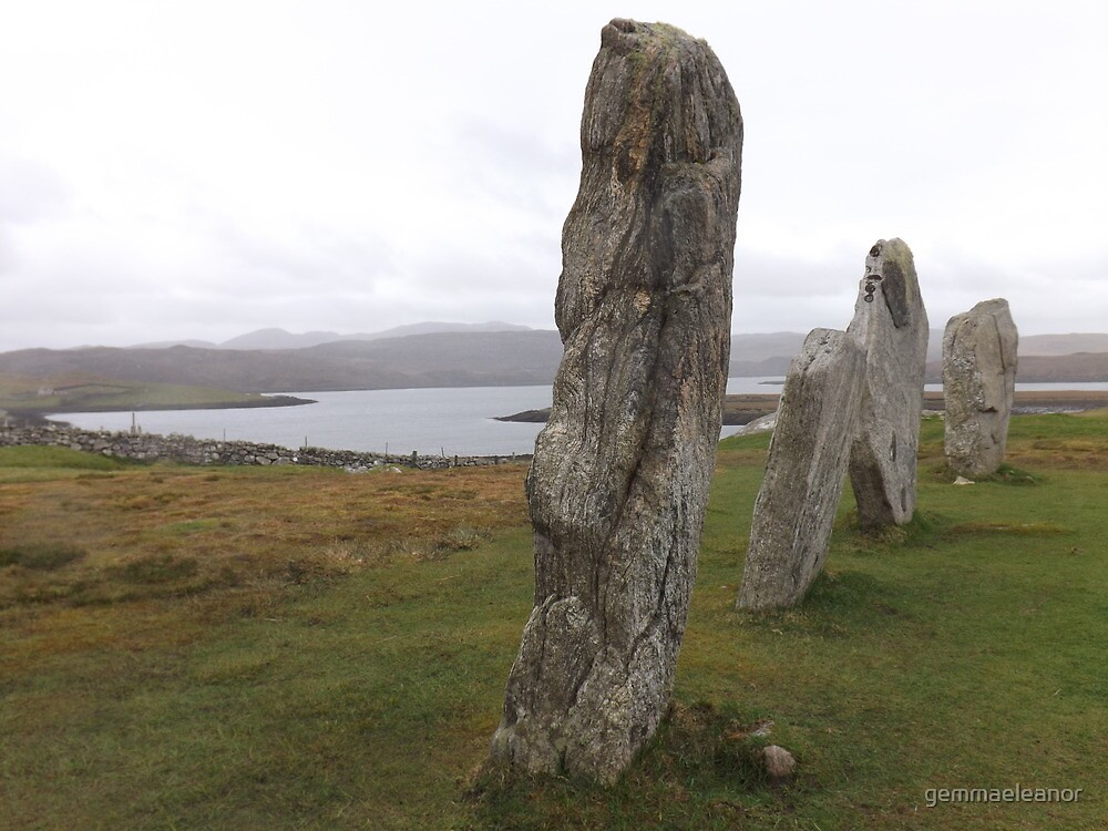 Calanais Stones by gemmaeleanor