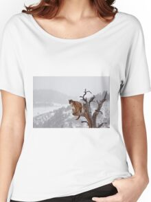 Cougar high in tree Women's Relaxed Fit T-Shirt