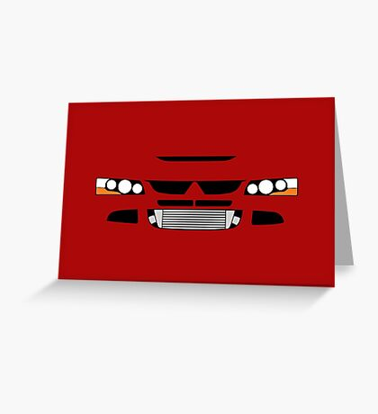 Evo 8 simple front end design Greeting Card