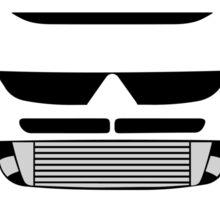 Evo 8 simple front end design Sticker