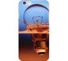 light bulb shot through the water iPhone Case/Skin
