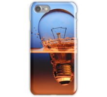light bulb shot through the water iPhone Case/Skin