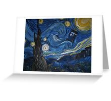 A Starry Night In The Tardis Greeting Card