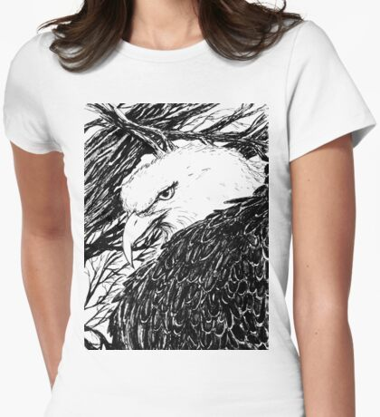 waking up Womens Fitted T-Shirt