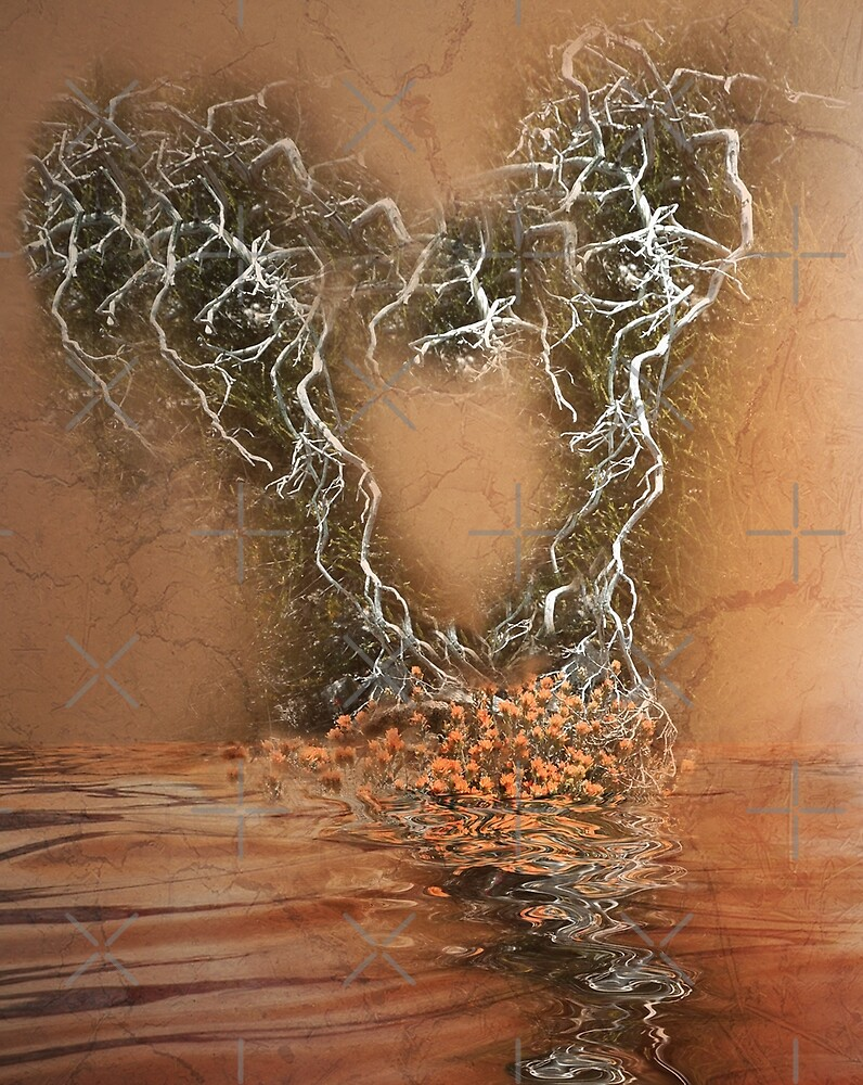 Troubled Heart (Image and Poem) by CarolM