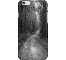 road way in deep forest iPhone Case/Skin