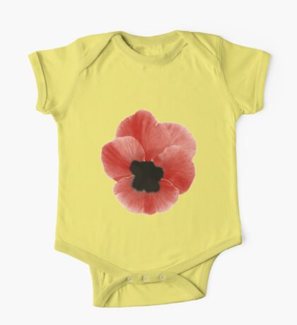 Poppy Print One Piece - Short Sleeve