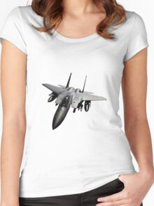 F-15 Jet Fighter Women's Fitted Scoop T-Shirt