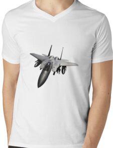 F-15 Jet Fighter Mens V-Neck T-Shirt
