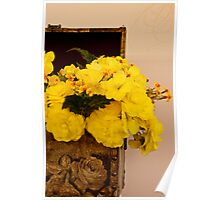 Yellow Begonias in Rose Box - Digital Oil Painting Poster