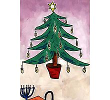 Dreidel Christmas Tree Photographic Print