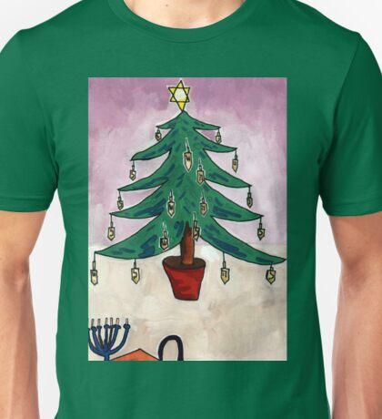 Dreidel Christmas Tree Unisex T-Shirt