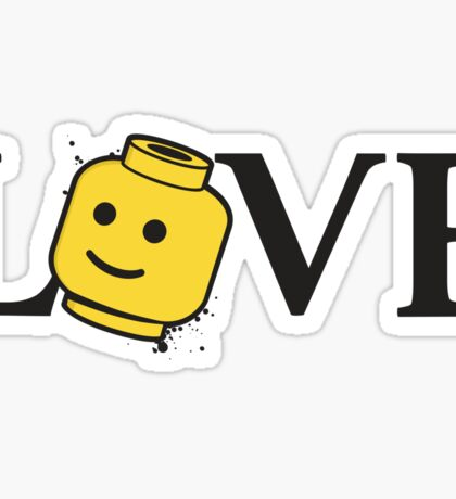 LOVE Bricks Sticker