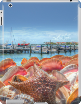 Marina in Nassau, The Bahamas | iPad Case by Jeremy Lavender Photography