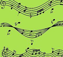Music staff by borines
