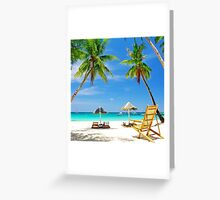 Beautiful and Relaxing Maldives Island  Greeting Card
