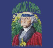 "Marijuana ""founding farmer"" George Washington Legalize Freedom t shirt  by John-Mike"