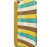colorful grunge canvas on yellow wall iPhone Case/Skin