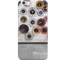 Retro clocks on the wall iPhone Case/Skin
