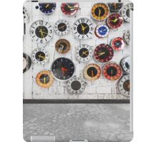 Retro clocks on the wall iPad Case/Skin