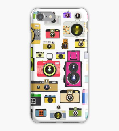 vintage camera pattern iPhone Case/Skin