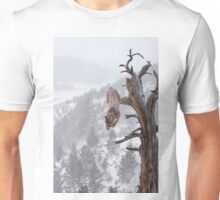 Cougar leaping off tree Unisex T-Shirt
